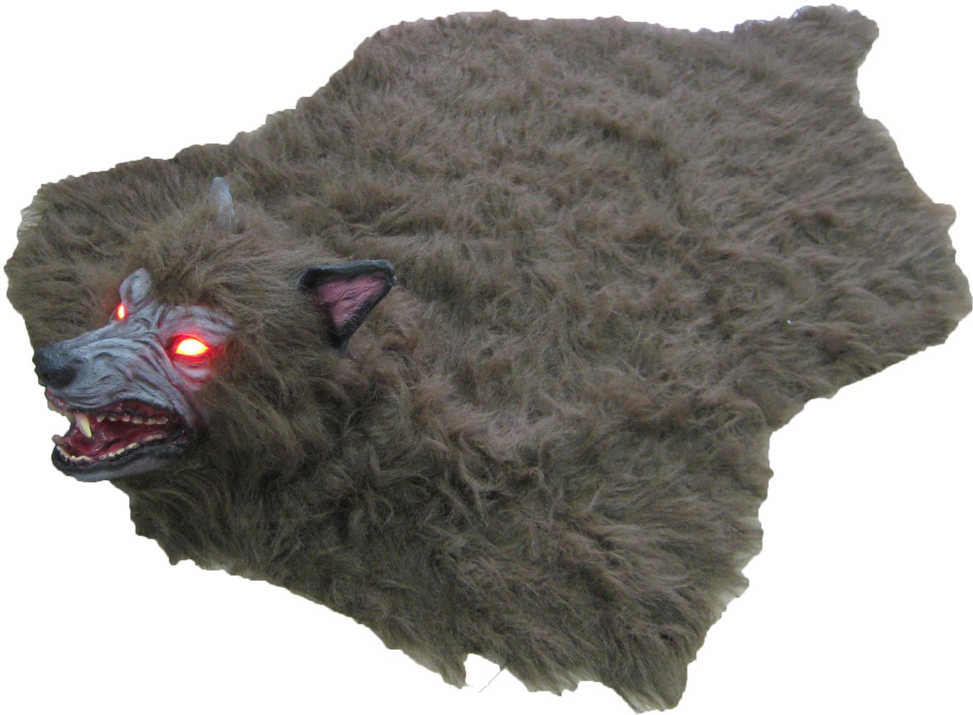 animated scarewolf rug animated scarewolf rug - Halloween Rugs