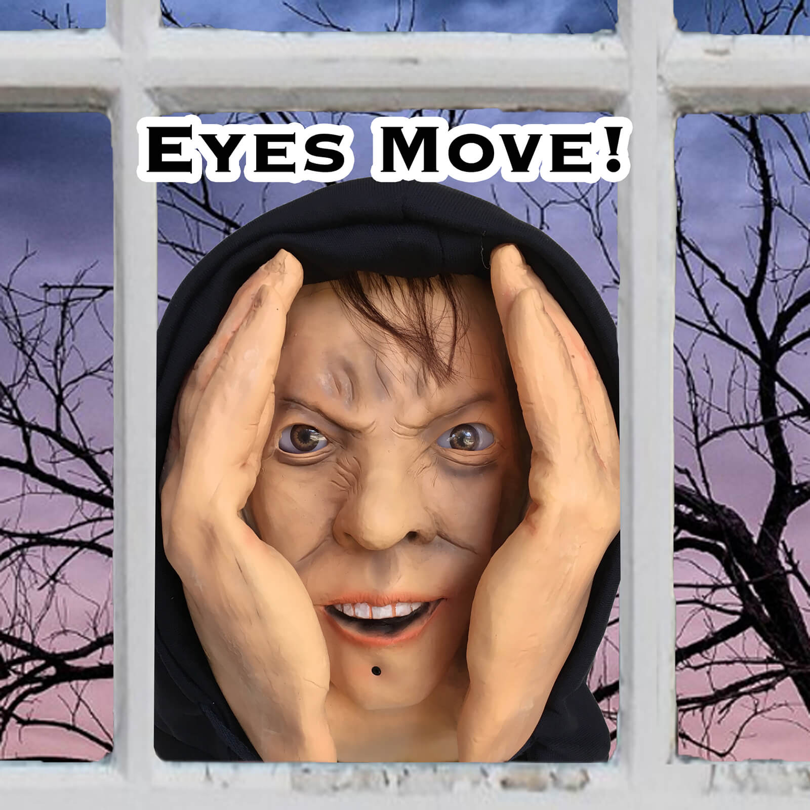 animated eyes scary peeper halloween prank prop - scarypeeper